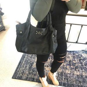 Like New KATE SPADE Black leather shoulder handbag